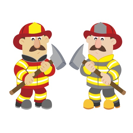 an illustration of cartoon fireman Stock Vector - 17565112