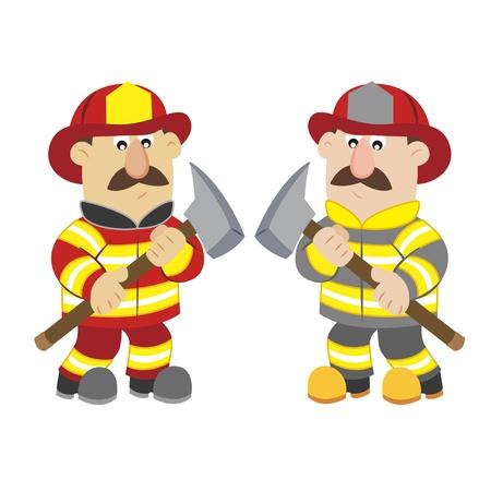 an illustration of cartoon fireman Stock Vector - 17565112