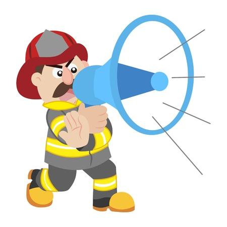 an illustration of cartoon fireman Stock Vector - 17564975