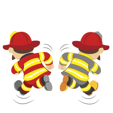 child protection: an illustration of cartoon fireman