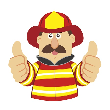 an illustration of cartoon fireman  Stock Vector - 17564981