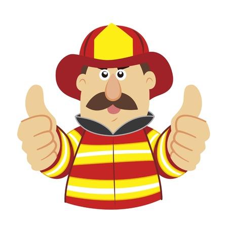 una ilustración de dibujos animados bombero