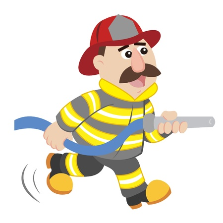 yellow character: an illustration of cartoon fireman