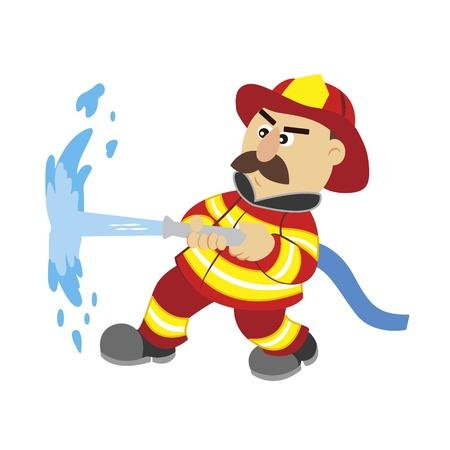 borne fontaine: une illustration de bande dessin�e pompier