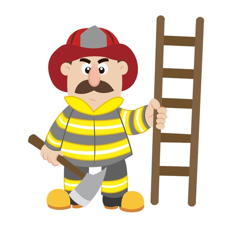 an illustration of cartoon fireman ,vector Stock Vector - 17565054