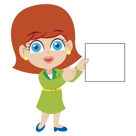 an illustration of cartoon teacher,vector