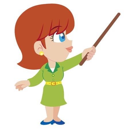 an illustration of cartoon teacher,vector Vector