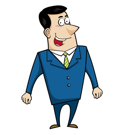 a cartoon business man, vector Vector