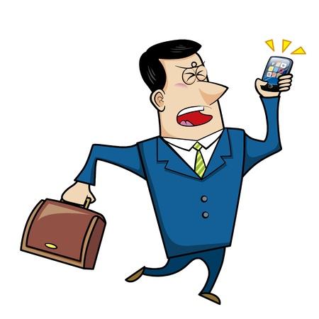 a cartoon business man, vector Stock Vector - 18107679
