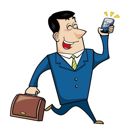 a cartoon business man, vector Stock Vector - 18107676