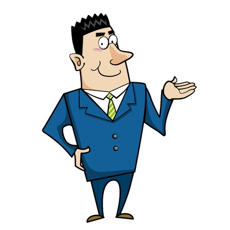 a cartoon business man, vector Stock Vector - 18107791