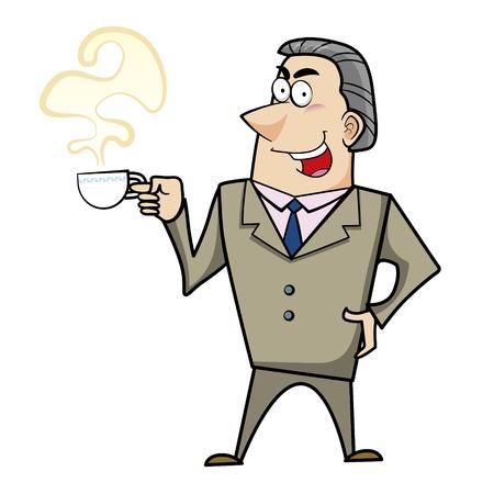 a cartoon business man, vector Stock Vector - 18107672