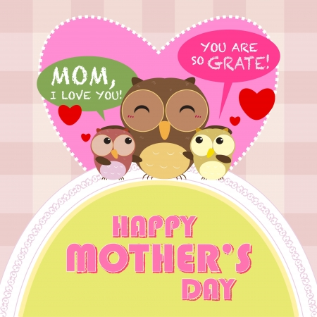 happy mothers day, cute background  vector illustration Stock Vector - 18465767