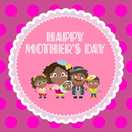 happy mothers day, cute background  vector illustration Stock Vector - 18465749