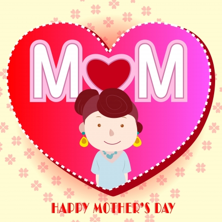 happy mothers day, cute background  vector illustration Stock Vector - 18465765