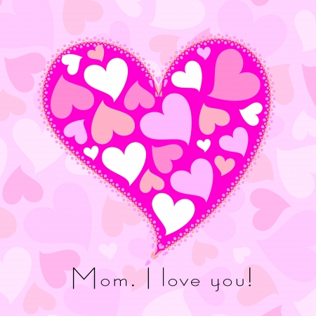 happy mothers day, cute background  vector illustration Stock Vector - 18465764