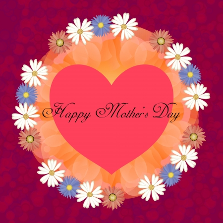 happy mothers day, cute background  vector illustration Stock Vector - 18465781