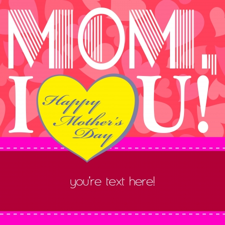 happy mothers day, cute background  vector illustration Stock Vector - 18465747