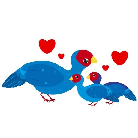 cute cartoon bird family Stock Vector - 18526669