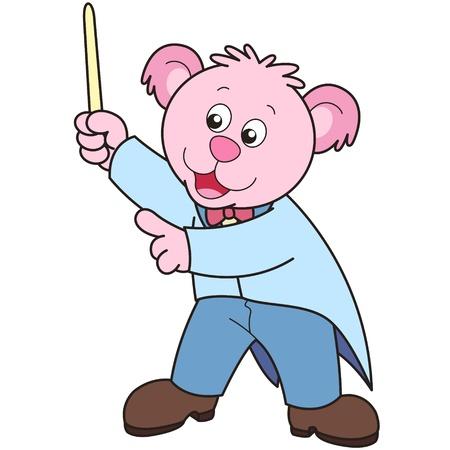 chef d orchestre: Chef d'orchestre d'ours de bande. Illustration