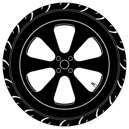 wheel rim: a car or truck tire symbol.