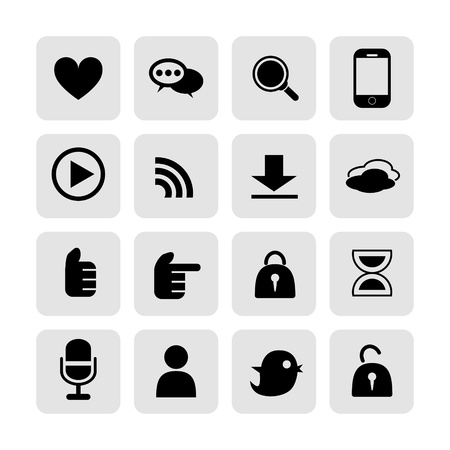 wireless communication: web, communication icons  internet vector set