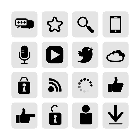 web, communication icons  internet vector set