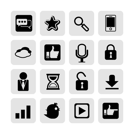web, communication icons  internet vector set  Stock Vector - 19830394