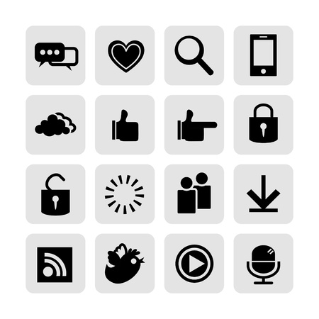 web, communication icons  internet vector set  Stock Vector - 19830393
