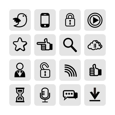 web, communication icons  internet vector set Stock Vector - 19830431