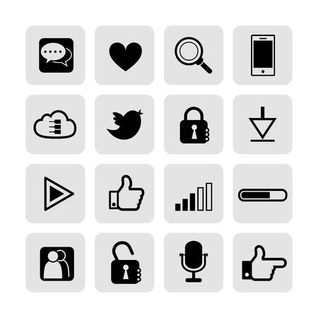web, communication icons  internet vector set Stock Vector - 19830396