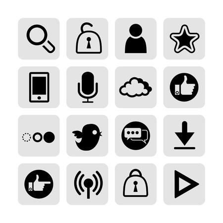 web, communication icons  internet vector set Stock Vector - 19830399