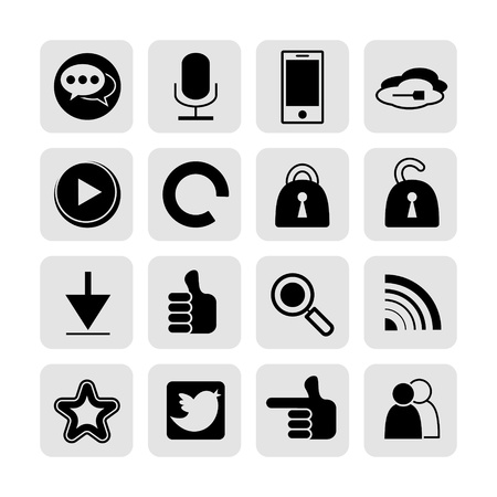 web, communication icons  internet vector set  Stock Vector - 19830398