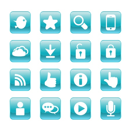 web, communication icons  internet vector set Stock Vector - 19830395