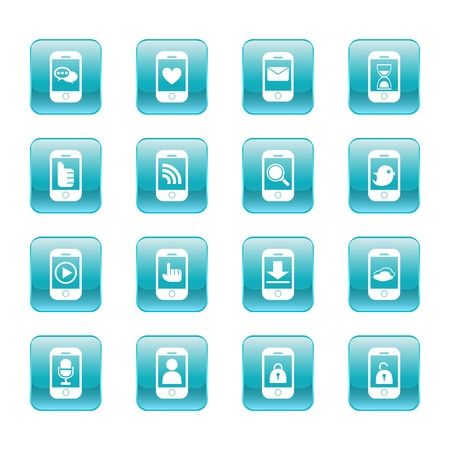 web, communication icons  internet vector set  Stock Vector - 19830388