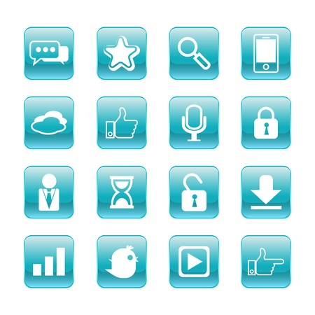 web, communication icons  internet vector set Stock Vector - 19830405