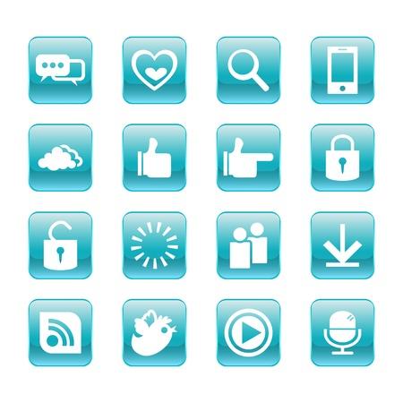web, communication icons  internet vector set  Stock Vector - 19830401