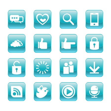 web, communication icons  internet vector set Stock Vector - 19830401