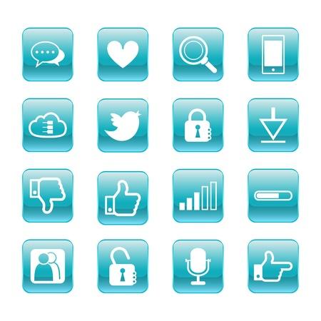 web, communication icons  internet vector set Stock Vector - 19830384
