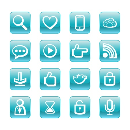 web, communication icons  internet vector set  Stock Vector - 19830387