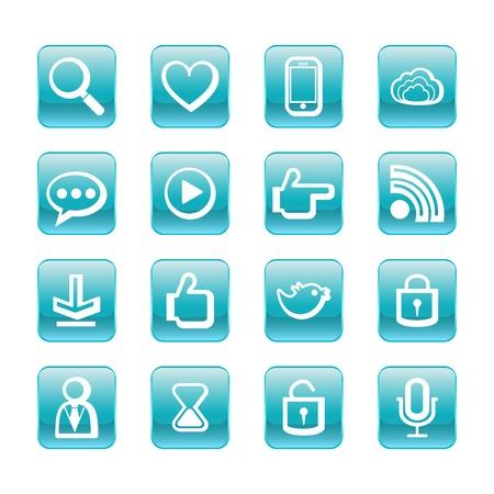 web, communication icons  internet vector set Stock Vector - 19830387