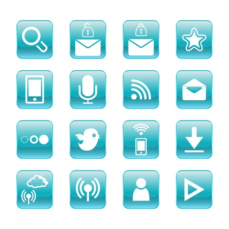 web, communication icons  internet vector set  Stock Vector - 19830385