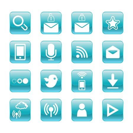 web, communication icons  internet vector set Stock Vector - 19830385