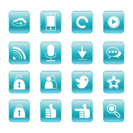 web, communication icons  internet vector set  Stock Vector - 19830403