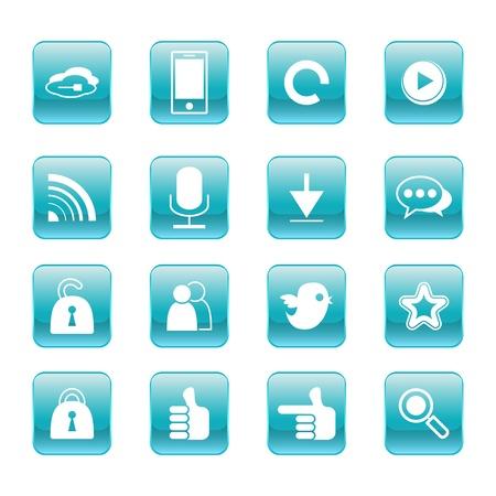 favourites: web, communication icons  internet vector set