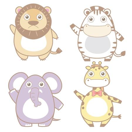 leon bebe: Ilustraci?n de la colecci?n cute icon animales