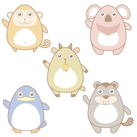 illustration of cute animal icon collection Stock Vector - 19830448