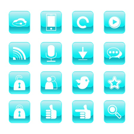 web, communication icons: internet vector set. Vector