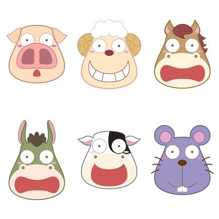 mouse animal: cartoon animal head set