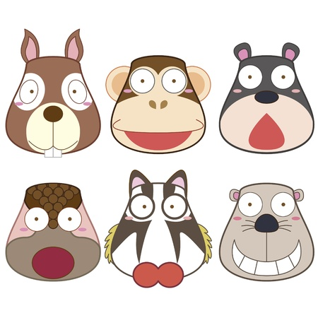 nutria caricatura: de cabeza animal de la historieta